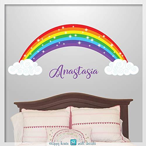 r Regenbogen Wand Aufkleber Regenbogen Wand Kunst Regenbogen Raum Dekor Regenbogen Name Aufkleber Kinderzimmer Dekor ()