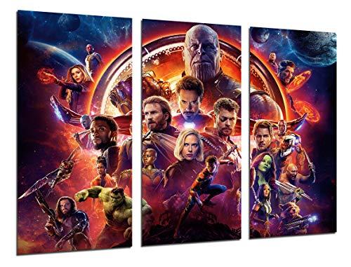 Cuadros Camara Modernes Bild für Fotografic, Superheroes, Avengers La Guerra Infinita 2018, Avengers Infinity War 2018, 97 x 62 cm, Ref. 27132 (Avengers Kunst Gerahmte Leinwand)