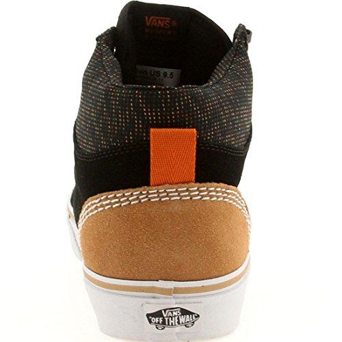 Vans Mens Era Hi Ca (camoscio Multi) Nero / arancione bruciato Suede Skateboarding black / burnt orange
