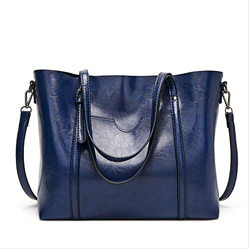 ASYPJP Handtasche Stilvolle Minimalistische Damentasche Koreanische Version Der Schulterfreien Slanted Bag Damenhandtasche Mit Großem FassungsvermögenBlau