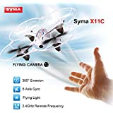 Syma X11C 4 Channel 6 Axis 2.4G RC Quadcopter With HD Camera Gyro(White) by Syma