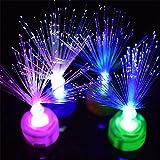 xMxDESiZ Lámpara de luz Nocturna LED de Fibra óptica Que Cambia de Color para decoración del hogar, Regalo de Fiesta de Vacaciones
