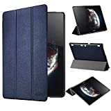 tinxi® Housse en PU similicuir pour Lenovo Tab 2 A10-70 / Tab 2 A10-70F 10,1 (25,7 cm) étui avec Stand case cover housse de protection Lenovo Tab 2 A10-70 Tablette tactile Design en Bleu foncé