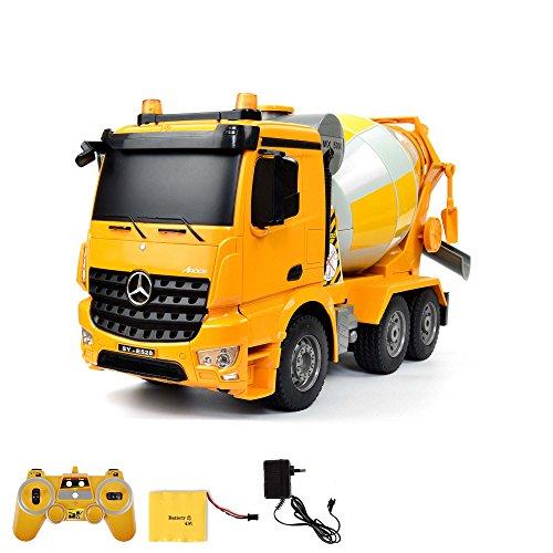 Mercedes-Benz Arocs - RC ferngesteuerter Betonmischer Zementmixer mit der neuesten 2.4GHz-Technik, steuerbare Mischtrommel, Sound- und LED-Effekte, DEMO-Funktion, Komplett-Set inkl. Akku und Ladegerät