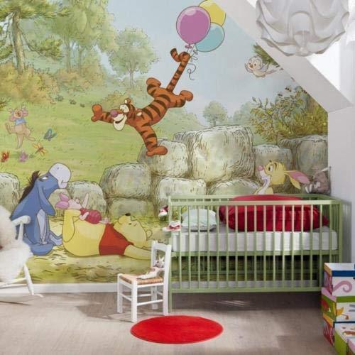 Komar Disney Winnie Pooh Ballooning, Carta da Parati, Vinile, Multicolore, 368 x 0,2 x 254 cm