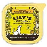 Lily's Kitchen - Juego de 6 protectores para comida de perro, 150 g, diseño de pollo orgánico