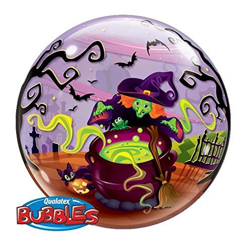 Flying Witch Spooky Brew Bubble Balloon for Halloween by Amscan (Halloween Spooky Stuff)