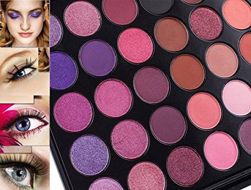 DE'LANCI 35 Color Eyeshadow Makeup Palette Waterproof Makeup Eyeshadow Kit Set