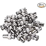 Pasow 20pcs RCA Female Plug To BNC Male Jack Adapter Coaxial Connector For CCTV Security Camera