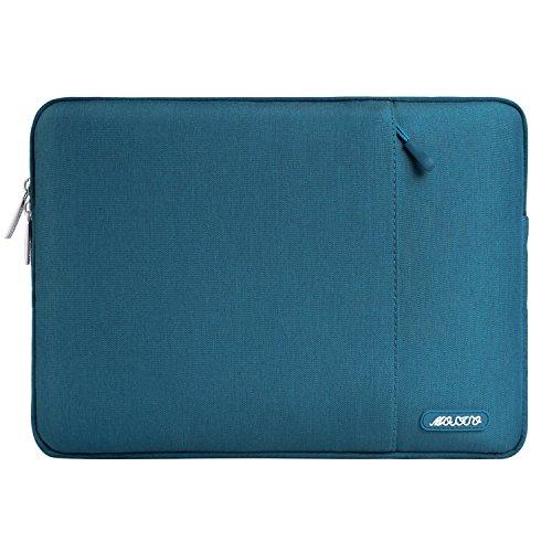 MOSISO iPad Pro 10,5 Hülle, Polyester Tasche für 9,7-10,5 Zoll iPad Pro, Surface Go 2018, Kompatibel mit iPad Air 2/Air, iPad 1/2/3/4 Wasserabweisende Vertikale Sleeve Hülle Laptoptasche, Deep Teal