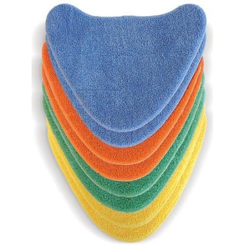 -[ Vax Genuine Total Home 8x Velcro Microfibre Multi-Colour Cleaning Pads  ]-