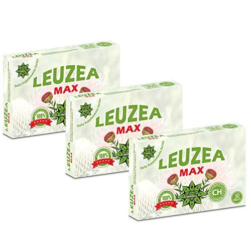 Cvetita Herbal Leuzea carthamoides Ecdysteron x 200mg Natürlicher Kräuterextrakt, Stärke, Ausdauer, Muscle Fuel Anabole Magermasse & Masse & Kraftgewinn, Muskelwachstumsaktivator (90 tabletten) -