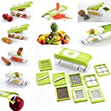 AD Passion Plastic Vegetable Slicer, Grater and Dicer - 11-Piece with 1 Knife