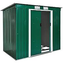 TecTake Cobertizo caseta de jardín metálica de Metal Invernadero almacén | + fundación Modelos (Tipo
