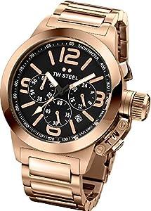 TW Steel TW307 - Reloj cronógrafo unisex, correa de acero inoxidable chapado color dorado de TW Steel