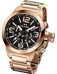 TW Steel Unisex-Armbanduhr Canteen Bracelet Chronograph edelstahl beschichtet Rotgold TW307
