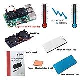 Kit de ventilación doble de GeeekPi para CPU con cinta térmica de 3 m, para Raspberry Pi 3/2modelo B/B+