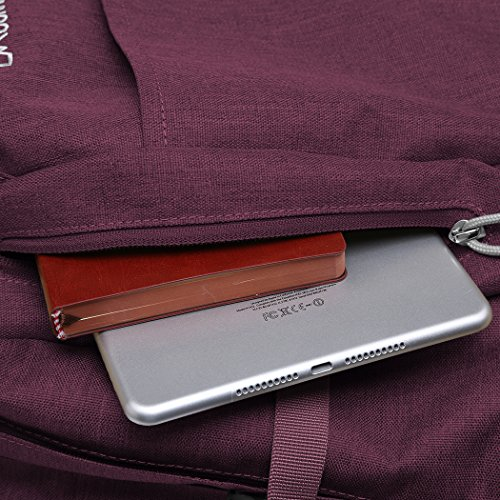 Mountaintop 25L/30L dauerhaft lässig Daypack Studenten Rucksack ideal für die Uni lässige Tasche, 44 x 28 x 13 cm/33x19x50 cm Jujube rot 3