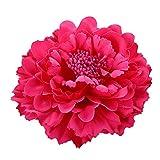 Cdet. 1pc Pince à Cheveux Fleur de Pivoine de Simulation Femmes Tissu Mariée...