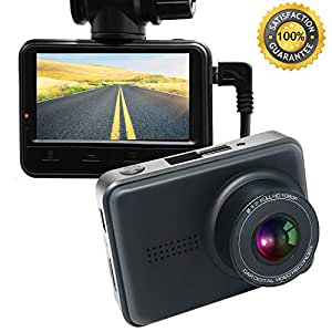 Dash Cam DVR Camera for Car 1080P High Resolution HD Wide Angle 165 ° Recording Guide DVR with Night Vision and G-sensor
