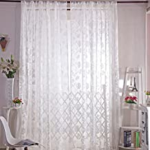 Amazingdeal365 Spitzen Lotus Vorhang Flugfensterdeko Voile Gardinen Schal 2m 1 M Set Fr Tr Schlafzimmer
