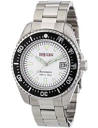 Nautec No Limit Deep Sea - Reloj analógico de caballero automático con correa de acero inoxidable plateada