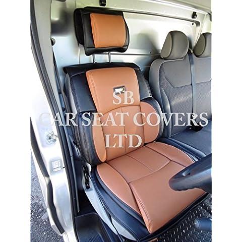 Ford Transit Custom Van, cubierta de asiento, YS 09Rossini PVC Marrón polipiel 1del conductor sólo