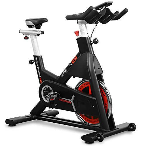 JLL IC600 Advanced Commercial Indoor Cycling Exercise Bike, Direct Belt Driven 22kg...