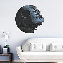 Stickers liketech en pared vinilo 3d Star Wars la estrella negra. 45x 45cm