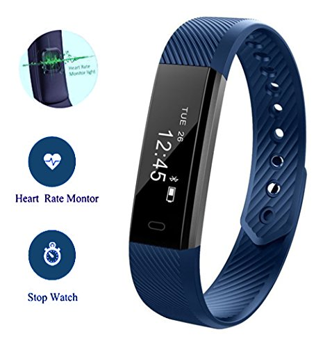 Dax-Hub i5+; i5 Plus IP67, H8, Smart Bracelet Watch impermeabile tracker sport Braccialetto fitness polso Bluetooth 4,0, Contapassi traccia delle Calorie, monitoraggio sanitario Braccialetto compatibile con Android 4,3 e 4,4/4,5/5,0, IOS 5,1 7,0/8,0 8,1/4s/5s/6/6s smartphone (U-Mini battito cardiaco, Nero)