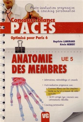 Anatomie des membres UE 5 : Optimisé pour Paris 6