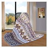 Hyvaluable Decke Flanelldecke warme Decke Vier Jahreszeiten Universal Classic Retro Style 180 * 200cm