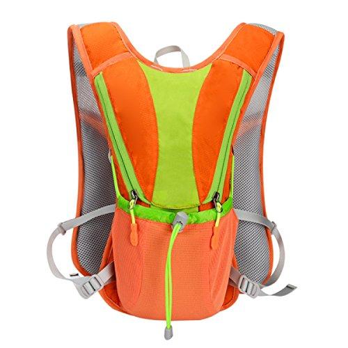 10L Hydration Pack Wasserdichter Cyclng Rucksack Und Rucksack Outdoor Wasser Reservoir Tasche,Orange Orange