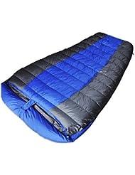 LXSnail Doble acampar al aire libre para adultos saco de dormir de invierno el almuerzo cubierta ultraportability agachar la cabeza larga, saco de dormir de ancho ( Color : Azul )