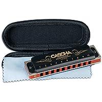 CASCHA Professional Blues Mundharmonika in C-Dur mit Etui und Pflegetuch
