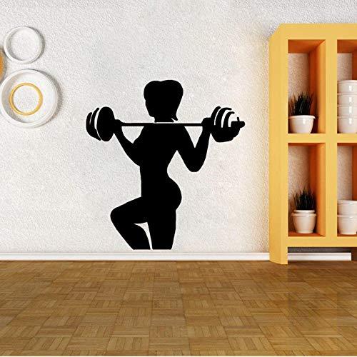 Wandaufkleber Interessante Gewichtheben Dekor Pvc Küche Und Fitnessstudio Hochwertige Abziehbilder 53Cm * 56.8Cm