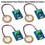 Innovateking-EU 4 stücke Analog Piezoelectric Ceramic Vibration Sensor analog Keramik piezo vibrationssensor modul 3,3 v / 5 v für arduino DIY kit