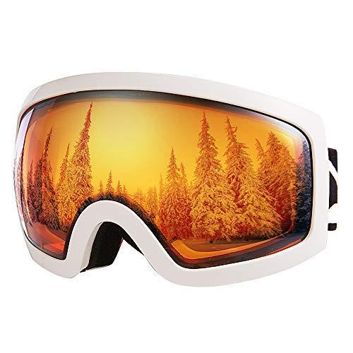 91a2c2512854b3 Bfull OTG Lunette de Ski, Lunettes d anti-buée et Coupe-Vent pour Les  Hommes,Les Femmes et Les Jeunes, Protection UV 400 et lentille d anti -éblouissement.