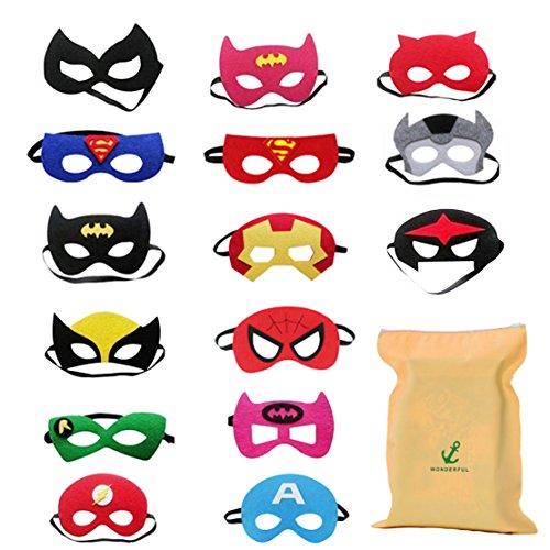 15 Superhelden Masken Superhero Party Kinder Masken Gastgeschenke für Cosplay Party masquerade im Alter (Superhelden Basteln Für Kinder)
