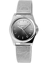 Excellanc llanc Mujer Reloj con acero inoxidable Malla de banda color antracita plata elegante moderna Mujer Reloj De Pulsera
