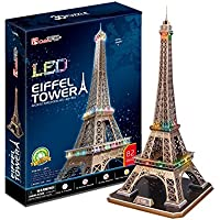 CubicFun Puzzle 3D LED Torre Eiffel (CPA Toy Group Trading S.L. L091)