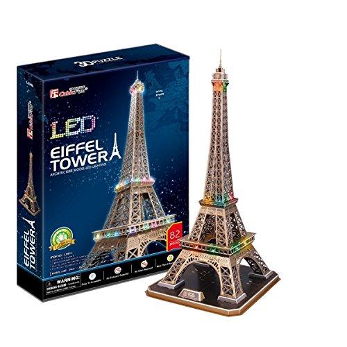 Puzzle 3D Cubic Fun - Tour Eiffel avec LED - Paris, France - l091h
