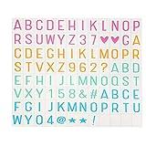 Mambain Colore Emoji Lettere Simboli Glifi Carta = = Speciale Decorativo Fai Cinema Segni Per A3 A4 A5 Light Box Cinema Luce Box = = Cinema Sign