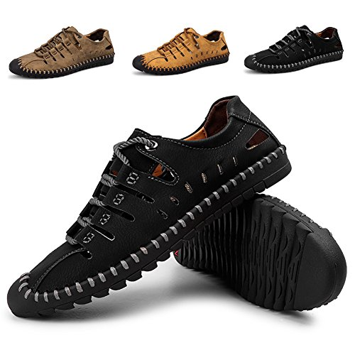 Sandalias de Deporte de Verano para Hombre Zapatos de Agua al Aire Libre para Senderismo Trekking Running Transpirable Secado Rápido de la Zapatilla de Deporte Más el Tamaño