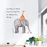 Cartoon Netter Fuchs Elefant Wandaufkleber,Wandtattoo Aufkleber Kinderzimmer Kinder Baby Kindergarten Wohnzimmer