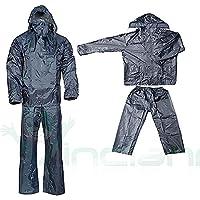 Giacca+pantalone tuta impermeabile anti pioggia bici moto nylon motocicletta 92164118485a