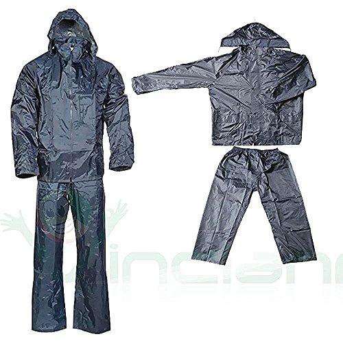 Giacca+pantalone tuta impermeabile anti pioggia bici moto nylon motocicletta