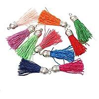 Souarts Mixte Pendentif Breloque Pompon Gland Décoratif Multicolore 4.5x1cm-4x1cm 30pcs