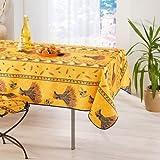 mctissus–Tischdecke Blumenstrauß Weizen gelb