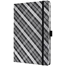 Sigel CO524 Notizbuch, Design Grafic, ca. A5, liniert, Hardcover, schwarz-grau, CONCEPTUM